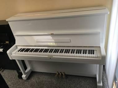 PIANOFORTE VERTICALE YAMAHA U1 BIANCO CON SISTEMA SILENT- PIANOFORTI USATI YAMAHA CON SILENT- PIANFOORTI YAMAHA U1-U3 SILENT