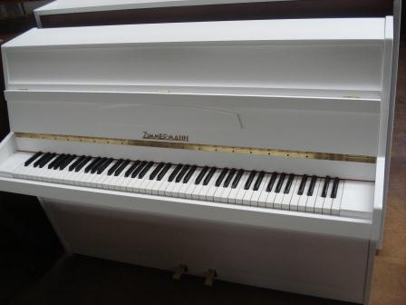 PIANOFORTE VERTICALE BIANCO-OCCASIONE(TEDESCO)-ZIMMERMANN-