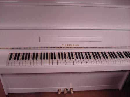 """PIANOFORTE BIANCO """"C. REIMANN""""-USATO- BIANCO- OCCASIONE!!!!!"""