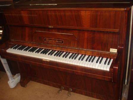 """PIANOFORTE NOCE CON VENATURE LEGNO """"BURGER & JACOBI"""""""