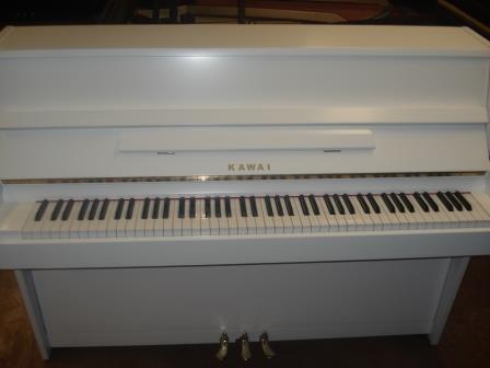 """Pianoforte verticale """"KAWAI""""- Bianco SEMILUCIDO- Usato- Occasione-seminuovo!!"""