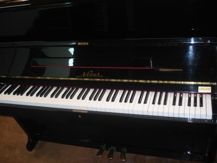 "PIANOFORTE VERTICALE SEMINUOVO ""NIEER""-NOCE LUCIDO!!"