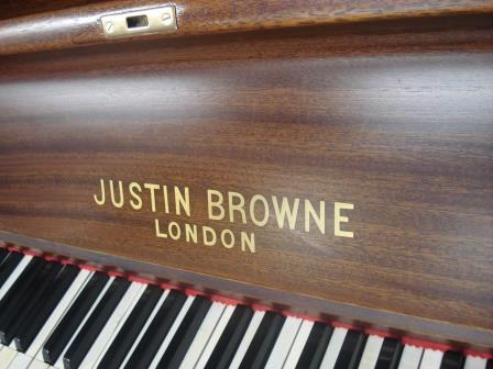 "PIANOFORTE INGLESE ""JUSTIN BROWNE""-NOCE SATINATO!!!"