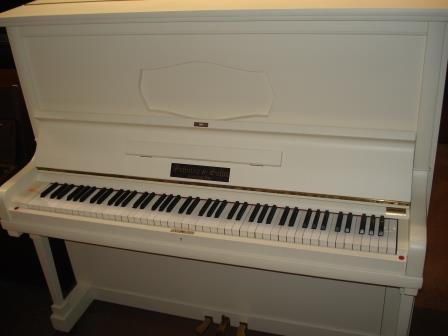 PIANOFORTE BIANCO VERTICALE-TEDESCO- OCCASIONE-PIANOFORTI VENETO